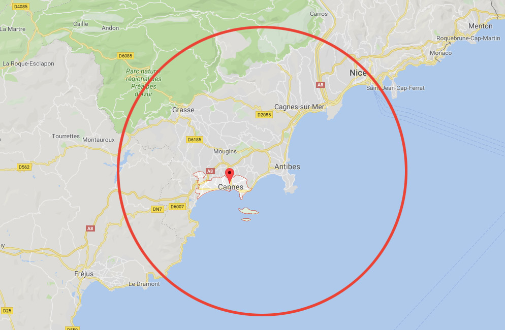 zone d'intervention de nos serruriers à Cannes
