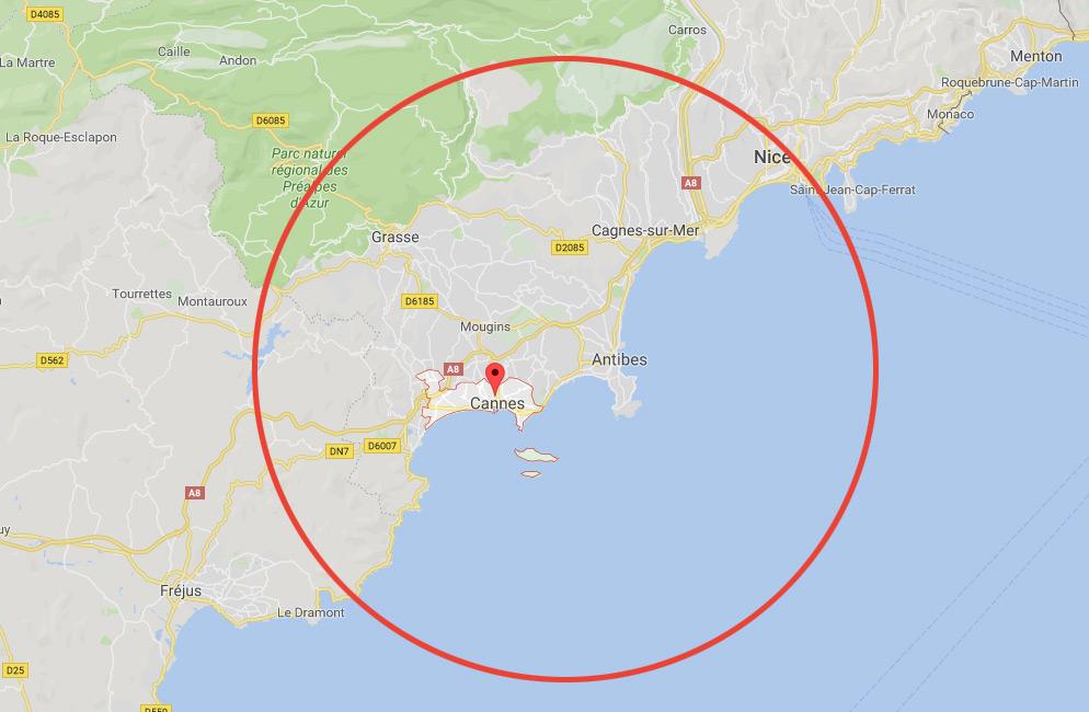 zone d'intervention de nos serruriers à Cannes